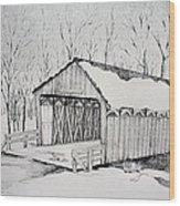 Snow Bridge 2012  Wood Print