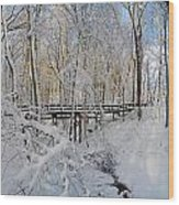 Snow Bridge Wood Print