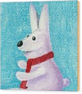 Snow Bunny Wood Print