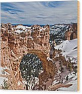 Snow Capped Arch At Bryce Wood Print