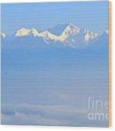 Snow Capped Himalayas  Wood Print