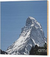 Snow-capped Mountain Wood Print by Mats Silvan