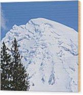 Snow Cone Mountain Top Wood Print