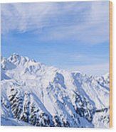 Snow Covered Alps, Schonjoch, Tirol Wood Print