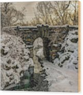 Snow-covered Glen Span Arch, Central Wood Print
