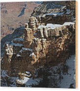 Snow Covered Grand Canyon Wood Print