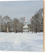 Snow Covered Guilford Wood Print