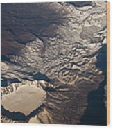 Snow Covered Volcano Showing Caldera Wood Print