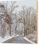 Snow Dusted Colorado Scenic Drive Wood Print