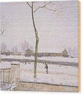 Snow Effect Effet De Neige Pastel On Paper C. 1880-1885 Wood Print
