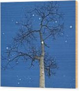 Snow Falling Where The Leaves Used To Be  Ethe  Wood Print