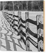 Snow Fence Wood Print