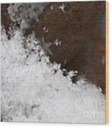 Snow Flake Wood Print