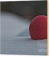 Snow Golf Wood Print