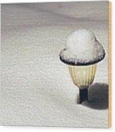 Snow Hat Wood Print