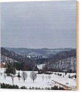 Snow Hills Wood Print