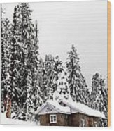 Snow House- Gulmarg- Kashmir- India- Viator's Agonism Wood Print