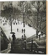 Snow In London Wood Print