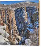 Snow In The Black Canyon Wood Print