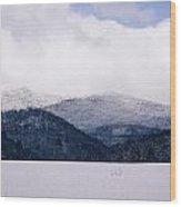 Snow In The Blue Ridge Mountains Wood Print