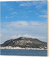Snow In The Harbour Wood Print
