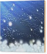 Snow In The Wind Wood Print