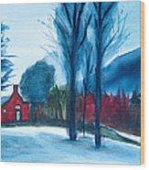 Snow In Vermont Wood Print