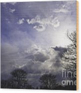 Snow Is In The Air Wood Print