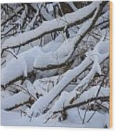 Snow Laden Wood Print