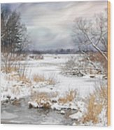 Snow Lake Wood Print
