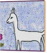 Snow Lamb Wood Print by Meenal C