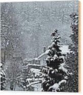 Snow Landscape Wood Print