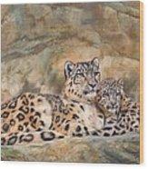 Snow Leopards Wood Print