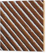 Snow Lines Wood Print