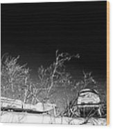 Snow Machines On The Roof Wood Print