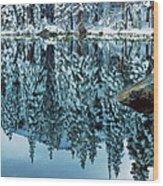 Snow Mirror Wood Print