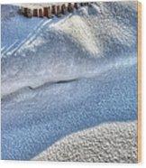 Snow Mound Wood Print