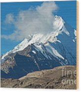 Snow Mountain Wood Print