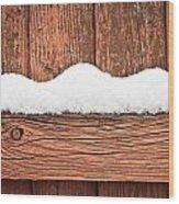 Snow On Fence Wood Print by Tom Gowanlock
