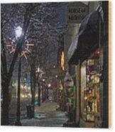 Snow On G Street 3 - Old Town Grants Pass Wood Print