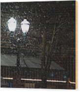 Snow On G Street In Grants Pass - Christmas Wood Print