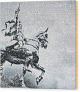Snow On Joan Wood Print