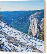 Snow On Sentinel Dome In Yosemite Np-ca Wood Print