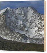 Snow Peaks Wood Print
