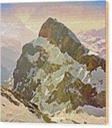 Snow Peaks Of Mount Titlis Wood Print
