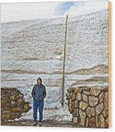 Snow Piles At Alpine Visitor's Center In Rocky Mountain National Park-colorado Wood Print