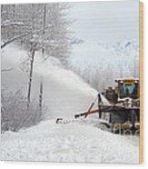 Snow Plow Wood Print
