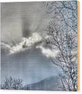 Snow Rays Wood Print