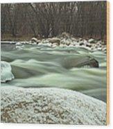 Snow Rock Wood Print