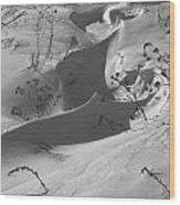 Snow Scroll Wood Print